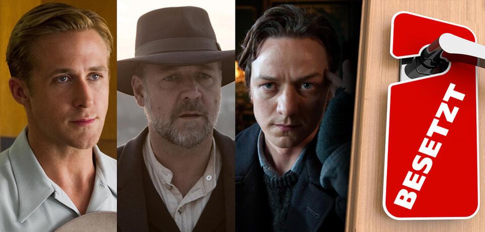 Ryan Gosling in Gangster Squad / Russell Crowe in Das Versprechen eines Lebens/ James McAvoy inX-Men: Erste Entscheidung
