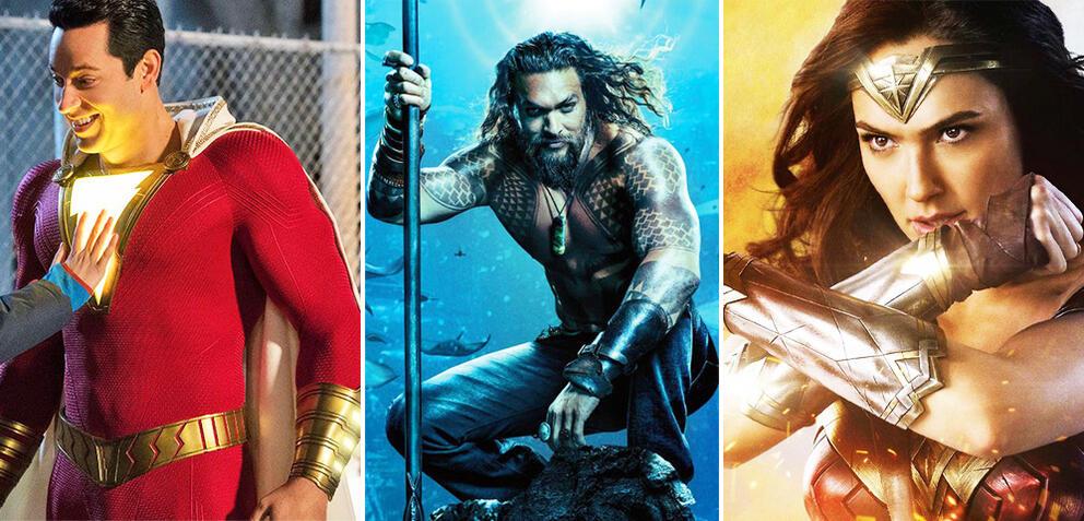 Shazam!/Aquaman/Wonder Woman