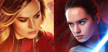 Bild zu:  Captain Marvel und Rey aus Star Wars
