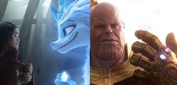 Wichtige Steine in Raya und der letzte Drache und Avengers 3
