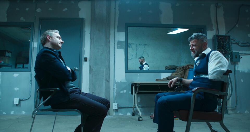 Black Panther mit Martin Freeman und Andy Serkis
