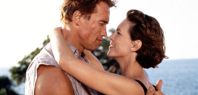 Arnold Schwarzenegger und Jamie Lee Curtis in True Lies