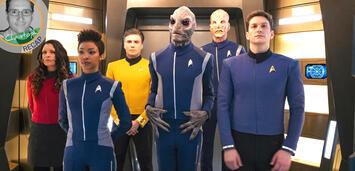 Bild zu:  Mit Captain Pike im Turbolift: Folge 1 der 2. Staffel von Star Trek: Discovery