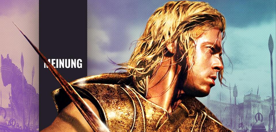 Brad Pitt in Troja