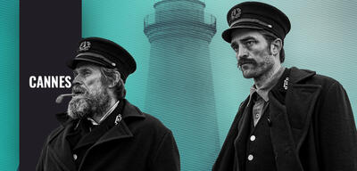 Wille Dafoe und Robert Pattinson in The Lighthouse