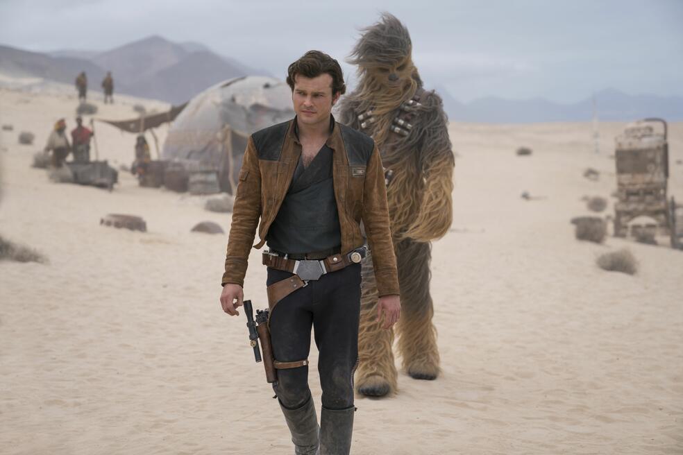 Solo: A Star Wars Story mit Alden Ehrenreich und Joonas Suotamo