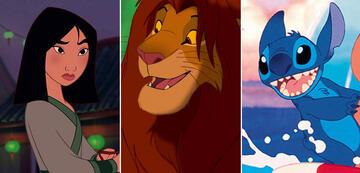 Finalistin Mulan, der drittplatzierte Simba und Stitch