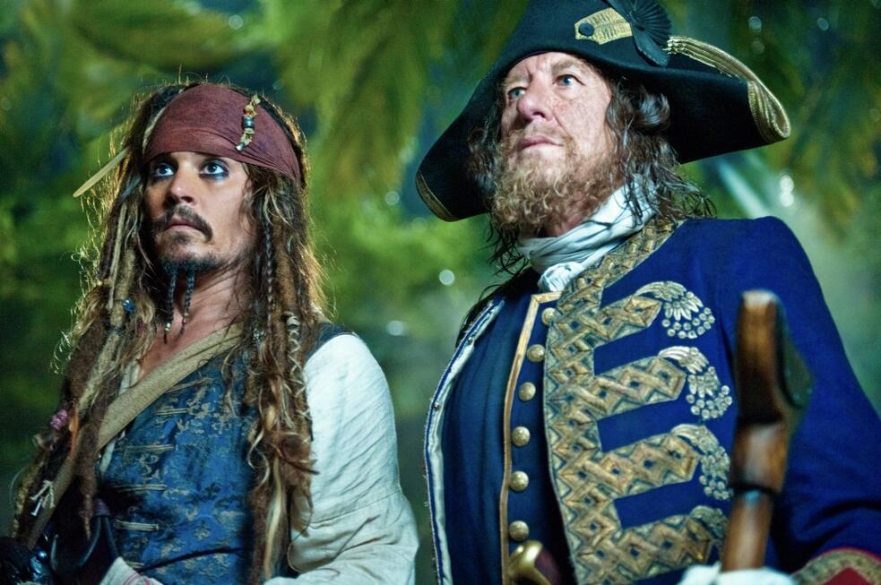 Pirates of the Caribbean - Fremde Gezeiten mit Johnny Depp und Geoffrey Rush
