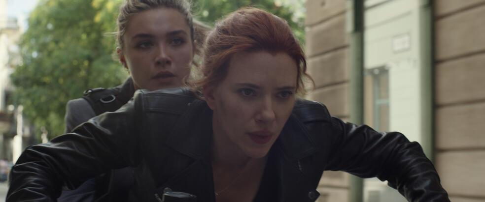 Black Widow mit Scarlett Johansson und Florence Pugh