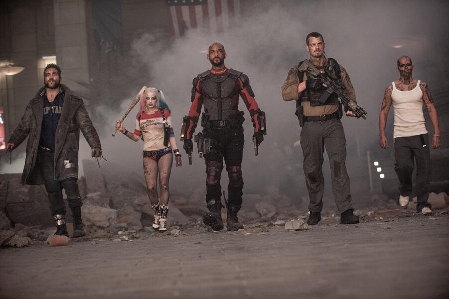 Suicide Squad mit Will Smith, Margot Robbie, Joel Kinnaman, Jai Courtney und Jay Hernandez