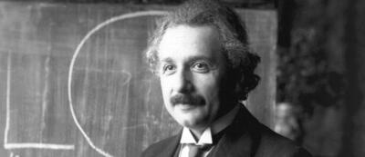 Albert Einstein 1921 in Wien