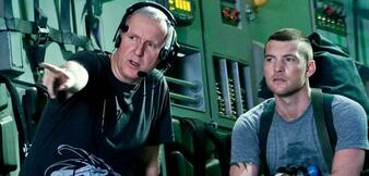 James Cameron am Set von Avatar
