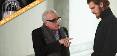 Martin Scorsese bei den Dreharbeiten zu seinem letzten Kinofilm