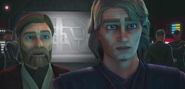 Obi-Wan und Anakin sind überrascht