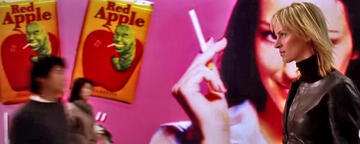 Red Apple-Reklame in Kill Bill 1