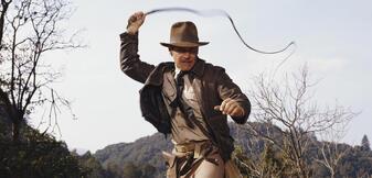 Indiana Jones lässt die Peitsche knallen