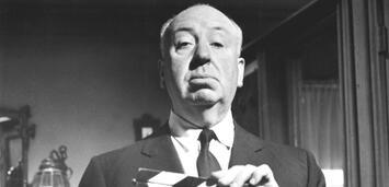 Bild zu:  Alfred Hitchcock auf dem Set von Psycho