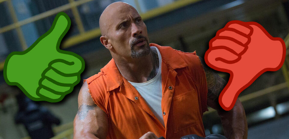 Dwayne Johnson in Fast & Furious 8