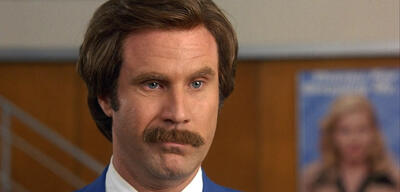 Will Ferrell als Anchorman Ron Burgundy