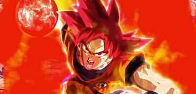 Son-Goku als Super-Saiyajin Gott
