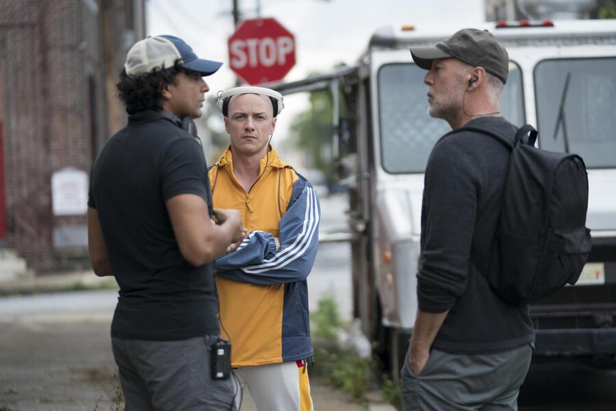 Glass mit Bruce Willis, James McAvoy und M. Night Shyamalan