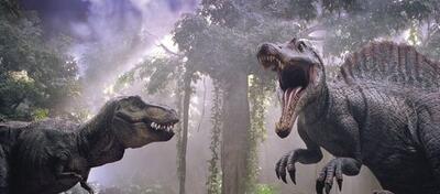 T-Rex vs. Spinosaurus im jüngsten Jurassic Park-Familienausflug