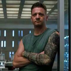Jeremy Renner als Hawkeye in Avengers 4: Endgame