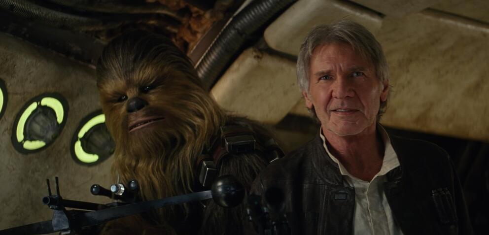 Da freuen sich auch Han Solo und Chewbacca