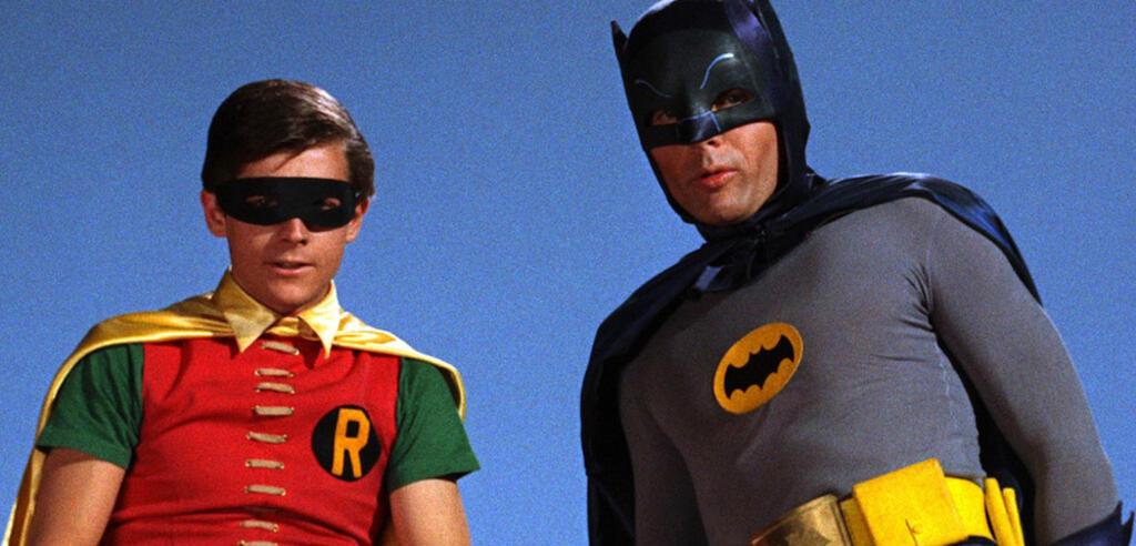 Burt Ward als Robin und Adam West als Batman