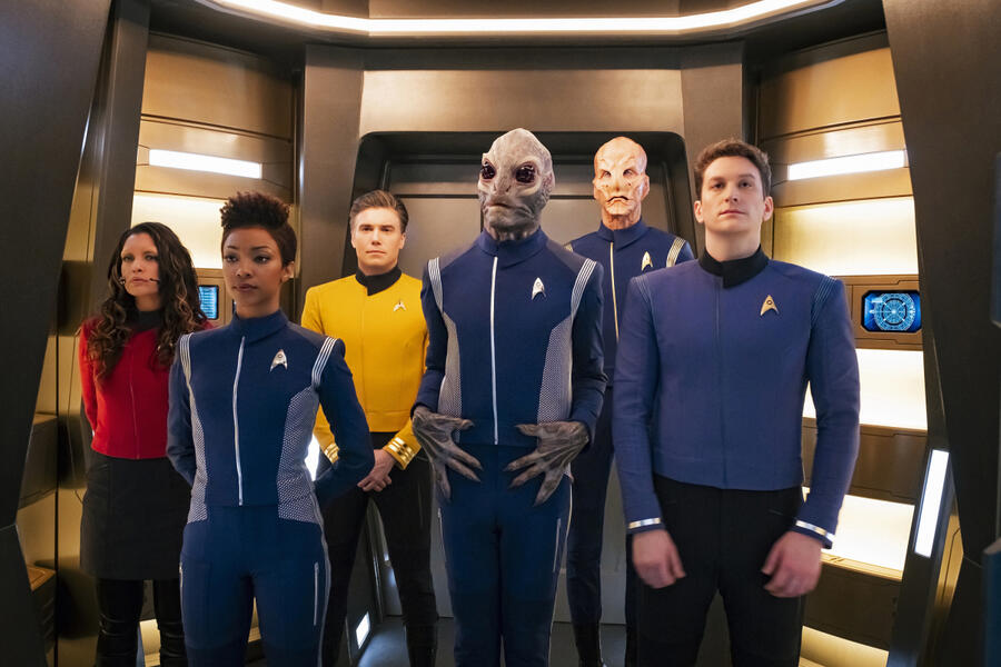 Star Trek: Discovery - Staffel 2, Star Trek: Discovery - Staffel 2 Episode 1 mit Doug Jones, Anson Mount, Sonequa Martin-Green, David Tomlinson, Sean Connolly Affleck und Rachael Ancheril