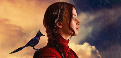 Katniss Everdeen im Poster zuMockingjay Teil 2