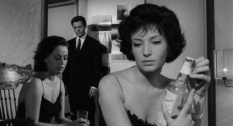 Die Nacht mit Marcello Mastroianni, Jeanne Moreau und Monica Vitti