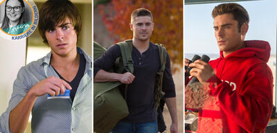Zac Efron in 17 Again, The Lucky One und Baywatch
