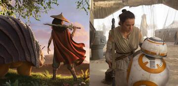 Zwei Disney-Heldinnen: Raya und Rey