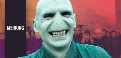 Ralph Fiennes als Lord Voldemort in Harry Potter und die Heiligtümer des Todes 2