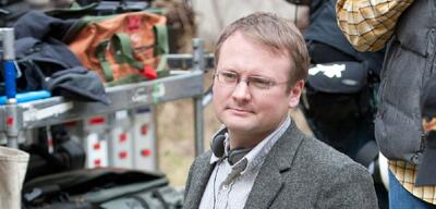 Rian Johnson am Set von Looper