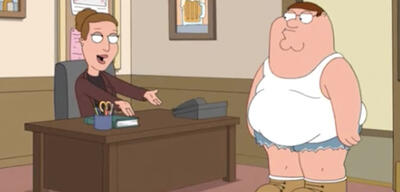 Carrie Fishers Angela in Family Guy