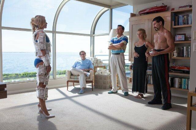 The Wolf of Wall Street mit Leonardo DiCaprio, Jonah Hill und Margot Robbie
