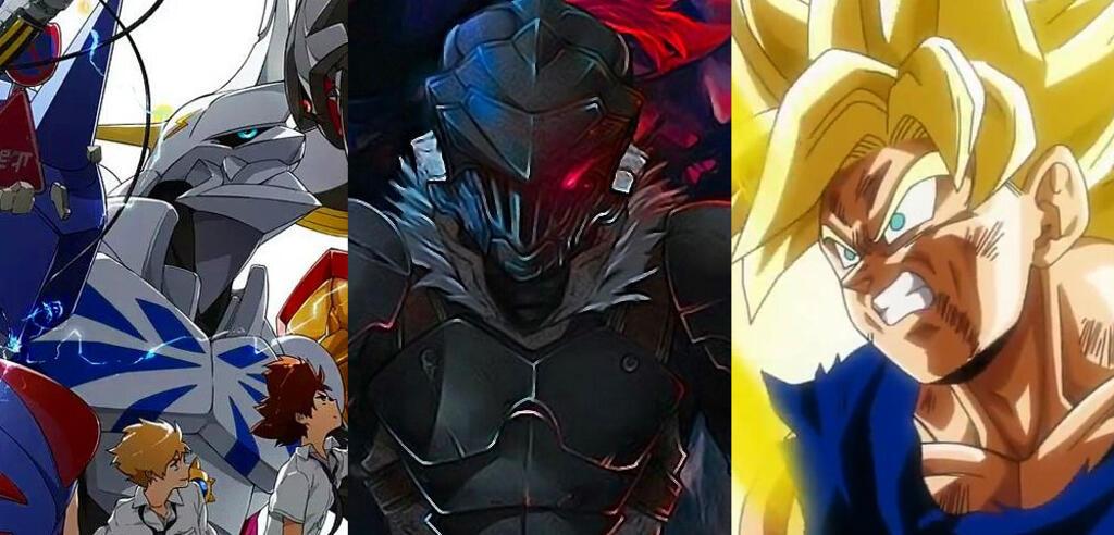 Tai, Matt & Omnimon, Goblin Slayer und Son-Goku