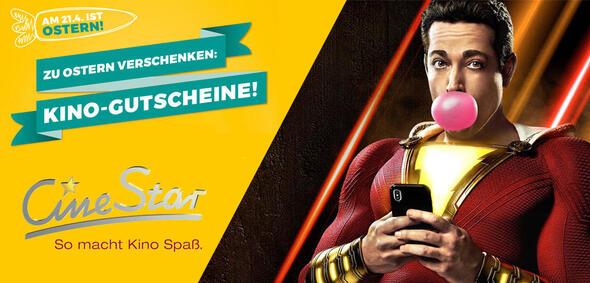 Shazam mit CineStar-Kino-Gutschein