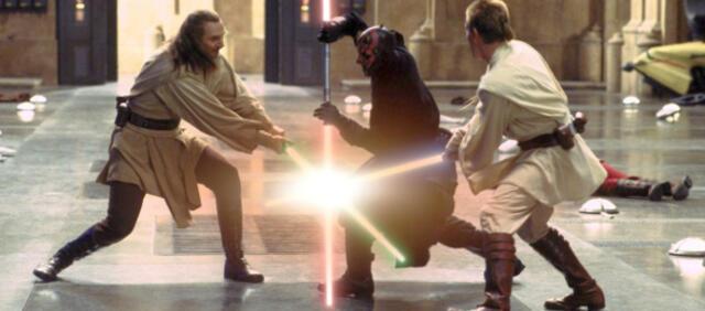 Lichtschwert Kampf in Star Wars