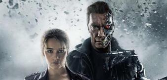 Emilia Clarke und Arnold Schwarzenegger in Terminator 5: Genisys
