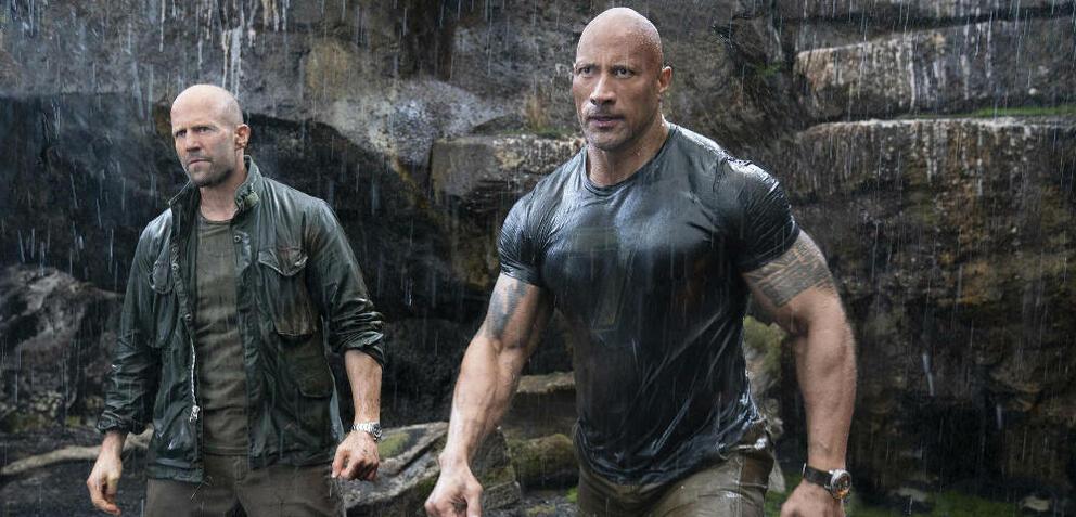 Jason Statham und Dwayne Johnson in Fast & Furious: Hobbs & Shaw