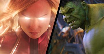 Captain Marvel und Hulk nehmen es mit Thanos auf