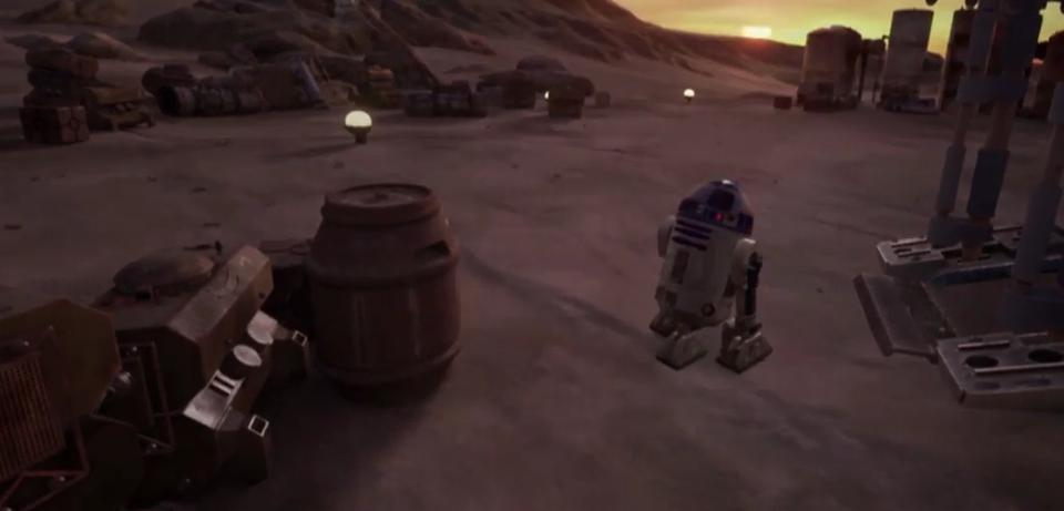 R2D2 in Star Wars: Trials on Tatooine