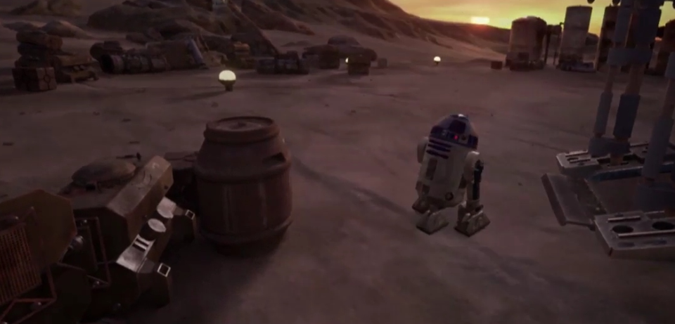 R2D2 in Star Wars: Trials on Tatooine