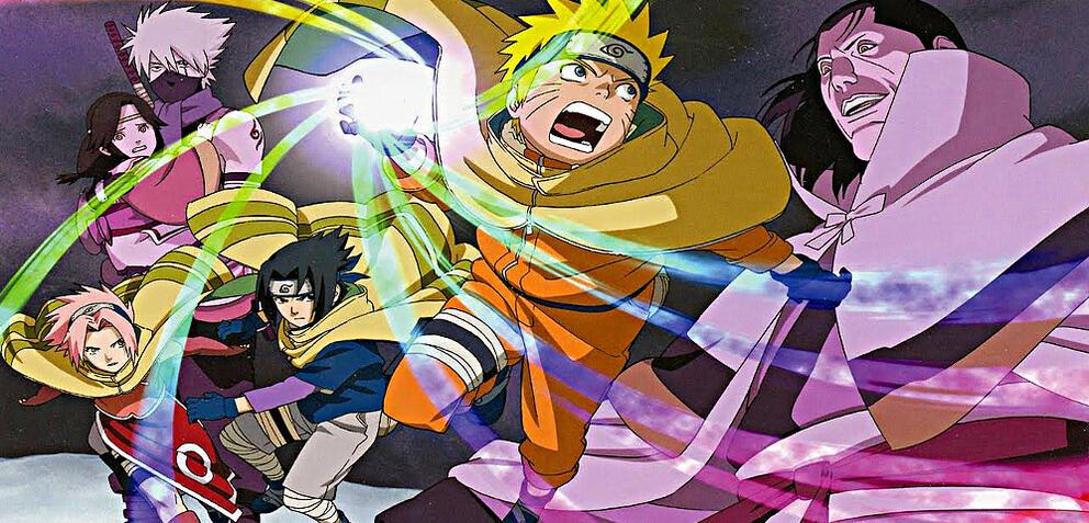 Naruto und seine Freunde in Aktion