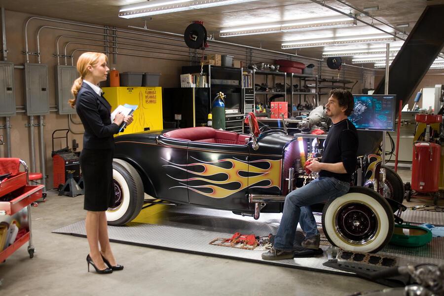 Iron Man mit Robert Downey Jr. und Gwyneth Paltrow