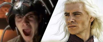 Harry Lloyd als Professor X und rechts in Game of Thrones