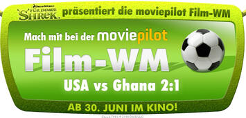 Bild zu:  Shrek präsentiert Film-WM USA vs. Ghana